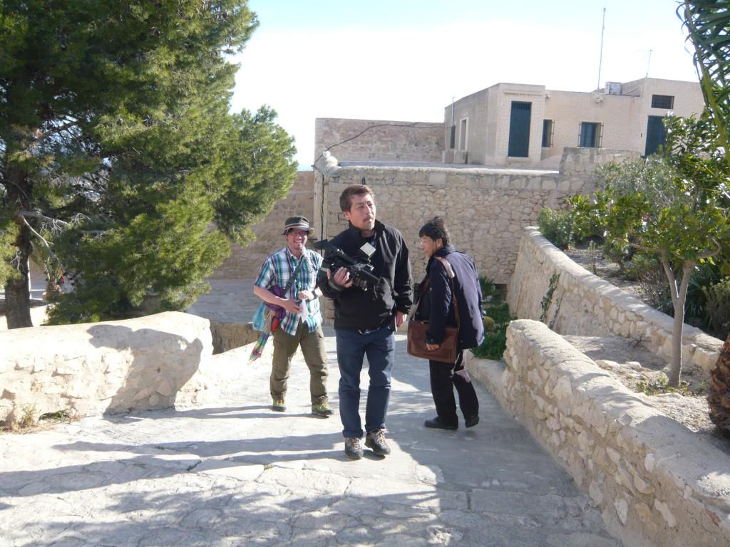 El callejeros viajeros japonés visitó el Castillo en febrero de 2013.