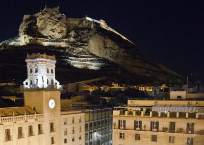 Ayuntamiento de Noche/City council at night