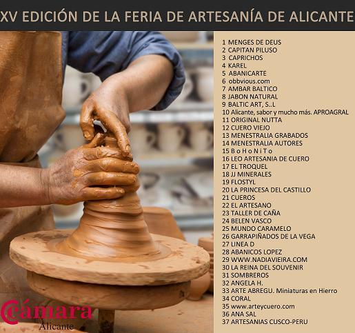XV Edición de la Feria de Artesanía de Alicante en la Explanada. Del 29 de Junio al 1 de Septiembre del 2013