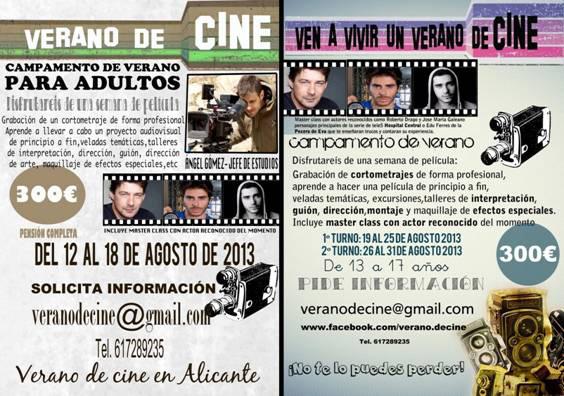 Aquest estiu, campament de cinema en Alacant per a joves i adults