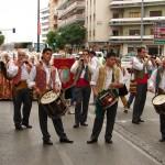 desfile de bandas en hogueras