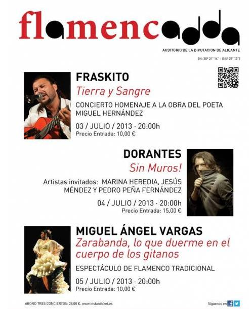 FLAMENCADDA en Alicante. Del 3 al 5 de Julio del 2013