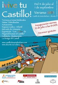 8 julio 2013 cartel de Vive tu Castillo