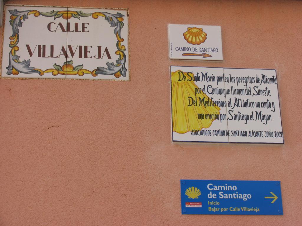 Alicante en el Camino de Santiago