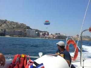 paracaídas mar