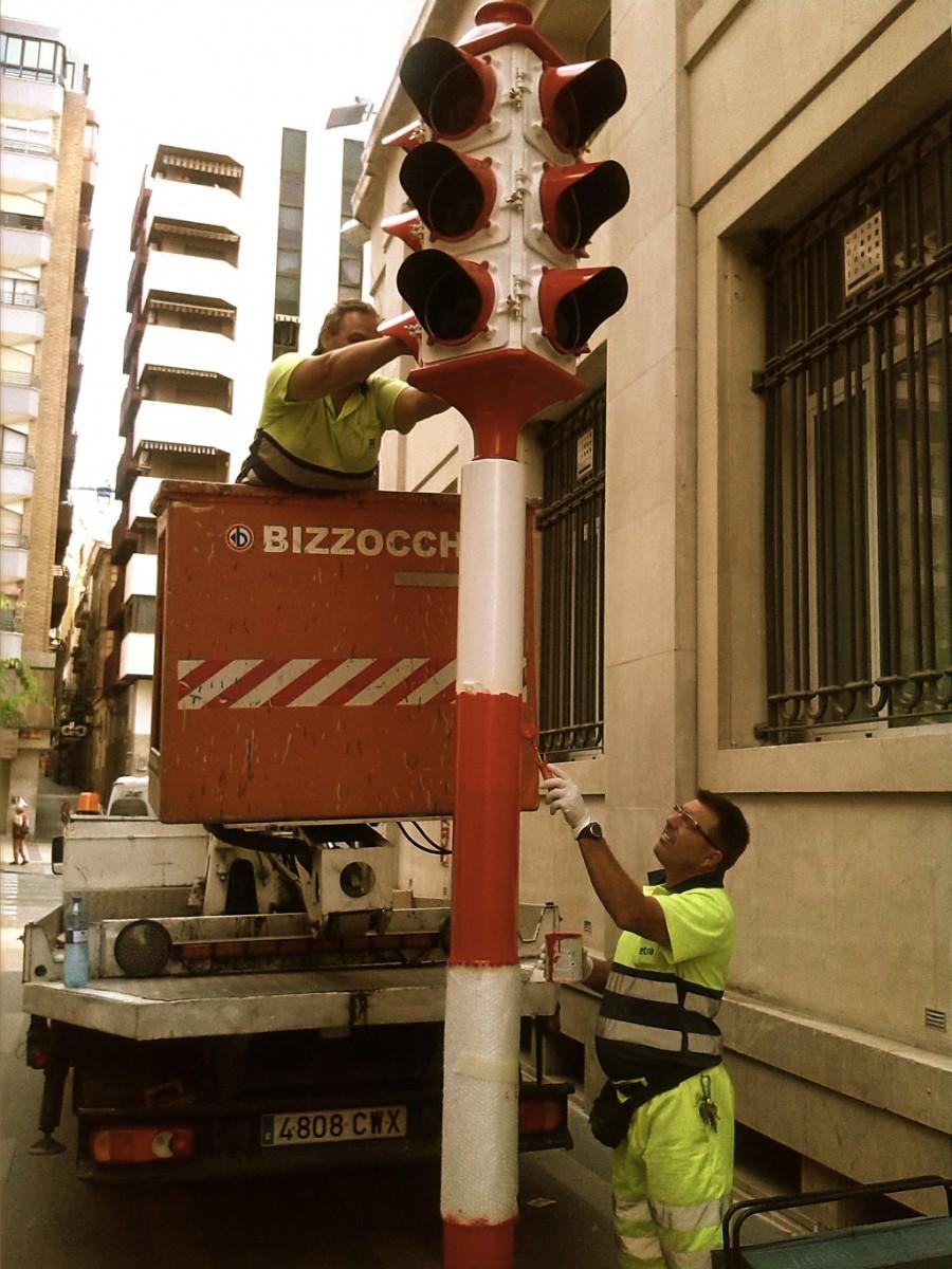 El primer semáforo de Alicante