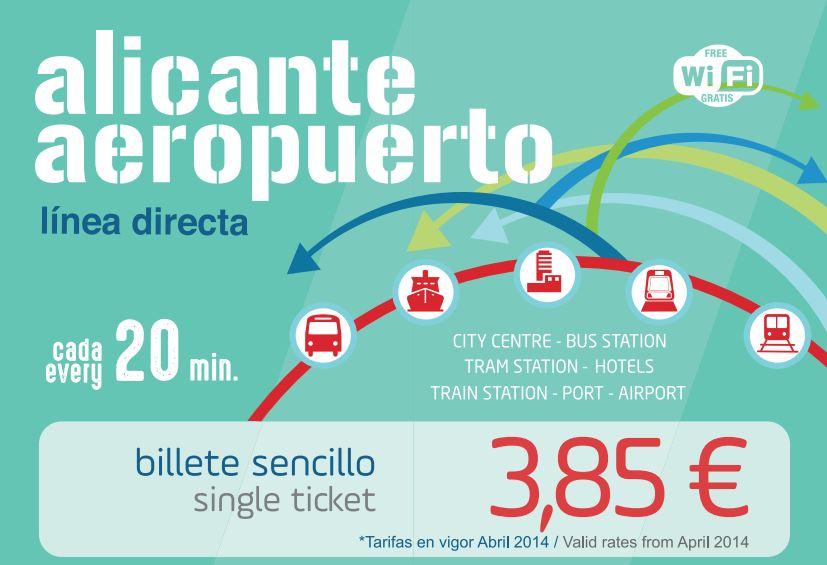 Buslinie C.6 Alicante – Flughafen