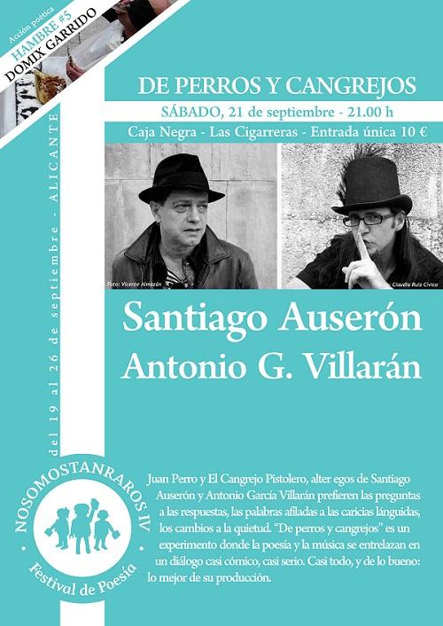 IV Festival de Poesía 'No somos tan raros' con Santiago Auserón y Antonio G. Villarán