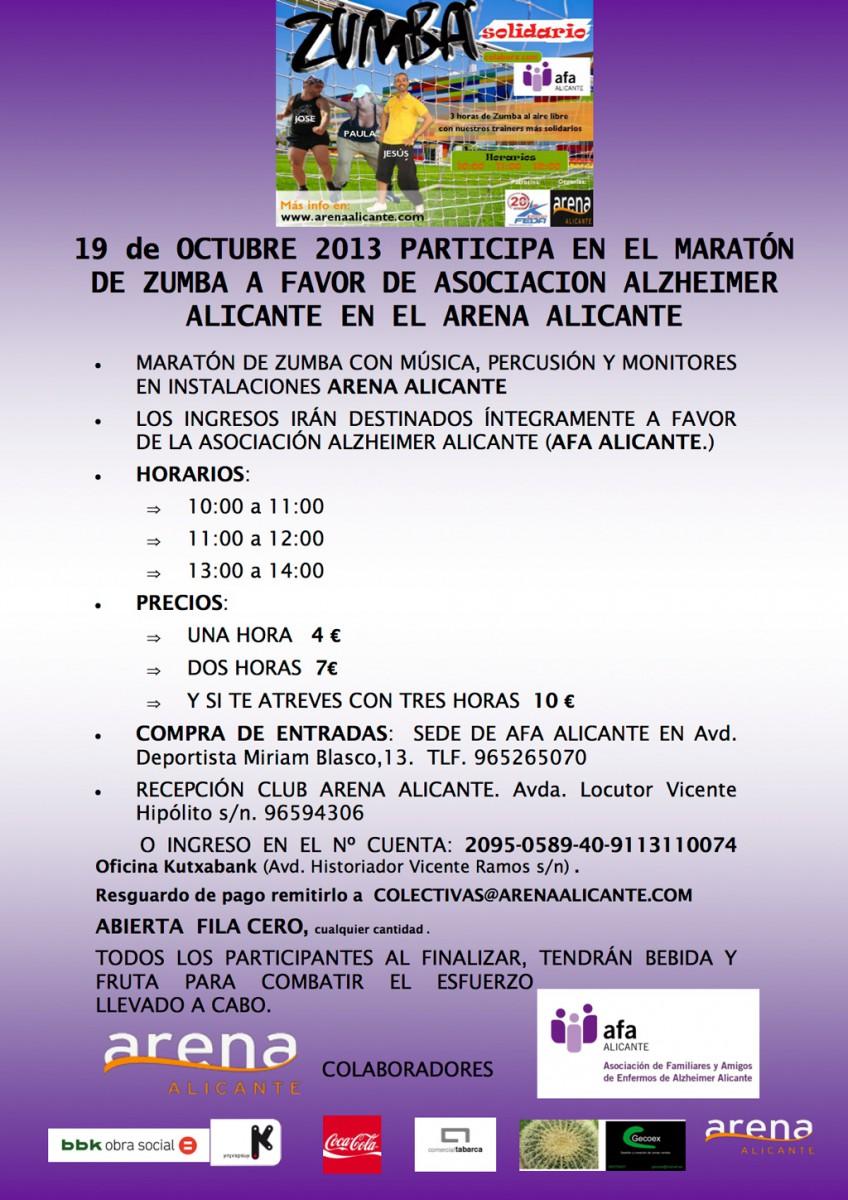 Alicante con el Maratón de Zumba solidario por la Asociación Alzheimer Alicante
