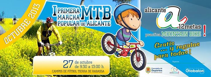 Fiesta de la Bici en la I Carrera Popular Mountain Bike Alicante