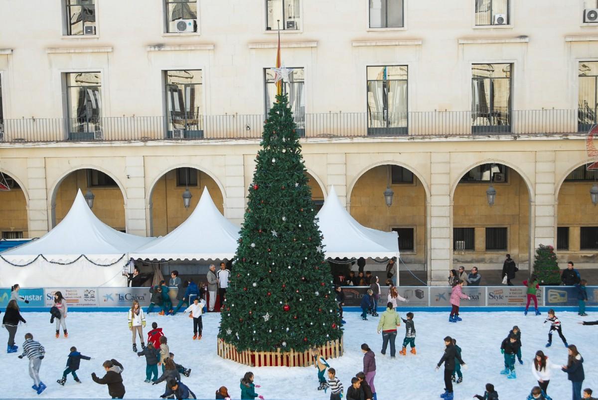 Una pista de hielo para soñar en Navidad