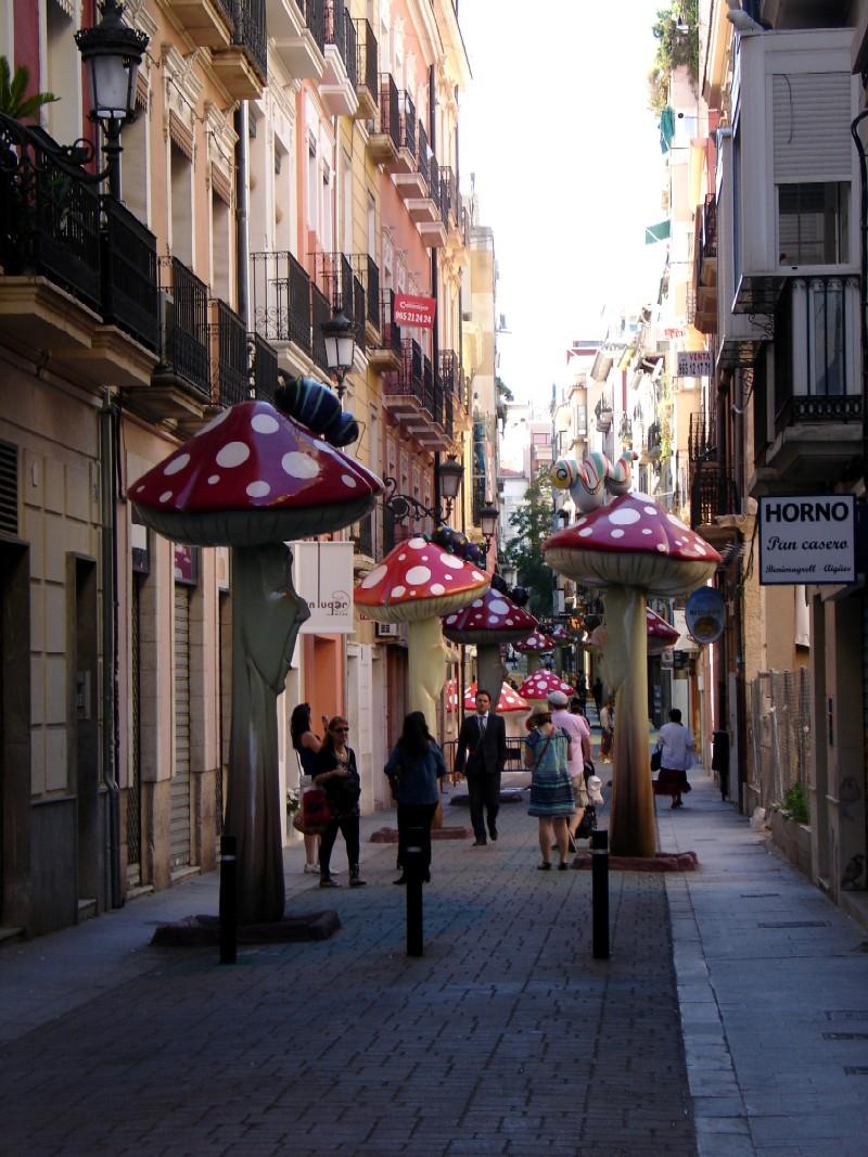 Calle San Francisco, setas