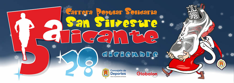 La V Carrera Popular Solidaria San Silvestre se celebra el 28 de Diciembre en Alicante