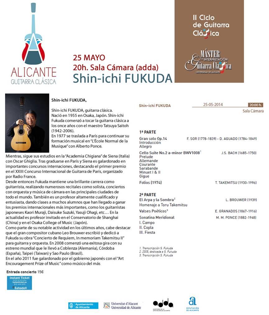 II Ciclo de Guitarra Clásica. Shin-ichi Fukuda