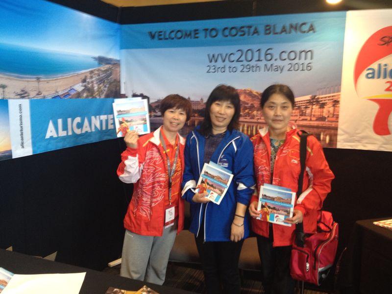 Doscientas preinscripciones para el Campeonato del Mundo de Tenis de Mesa para Veteranos Alicante-Elche 2016 se formalizan en la clausura de Auckland 2014