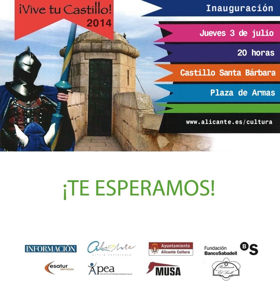 ¡Vive tu Castillo! Inauguración a las 20.00h
