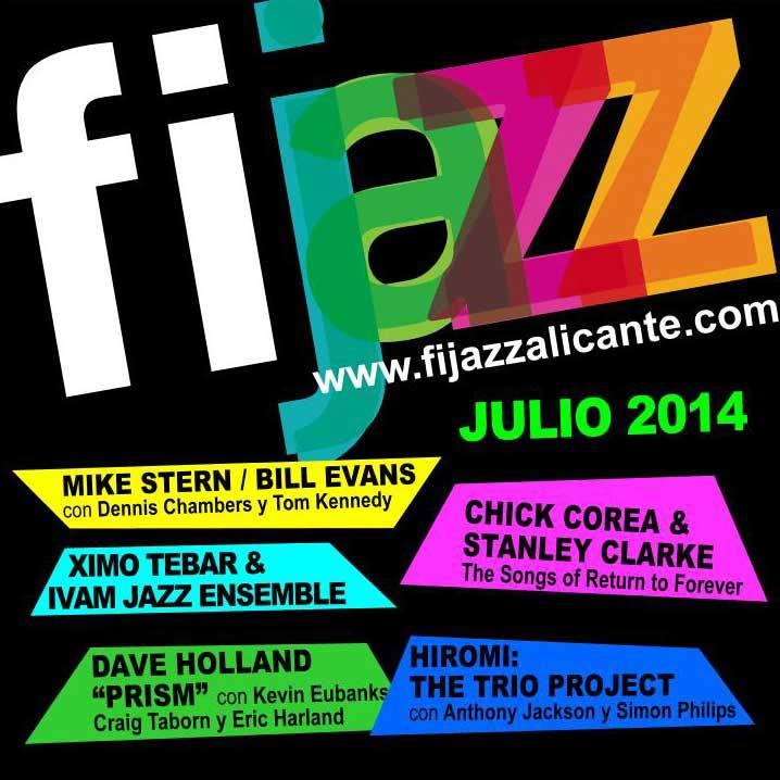 El millor del Jazz internacional es dóna cita a Alacant del 18 al 26 de juliol. FIJAZZ Alacant 2014