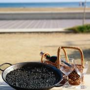 Arroz negro alicantino. Receta típica de arroz