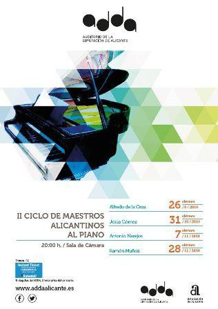 II Ciclo de Maestros Alicantinos al Piano en el ADDA de Alicante