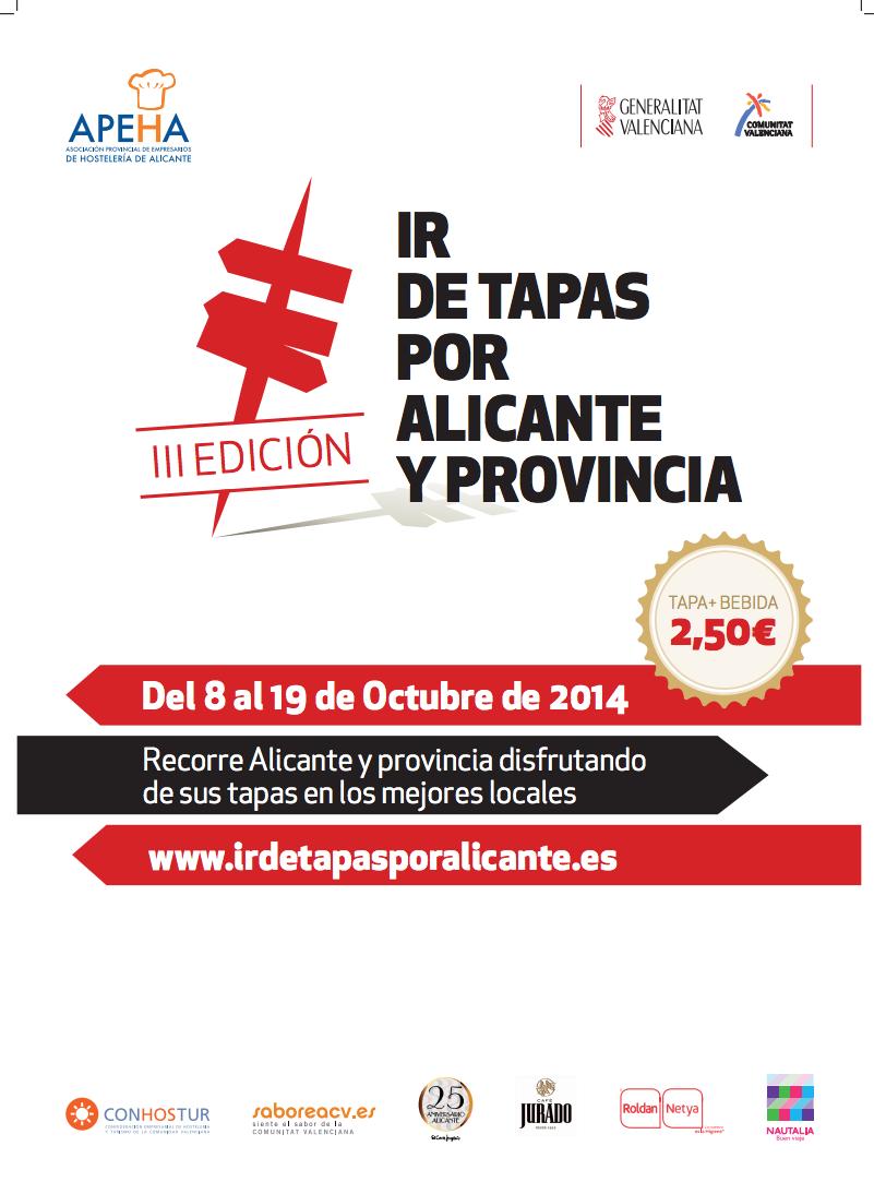 III Edición ir de tapas por Alicante.