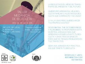 Taller de reparación de bicis con Biktra en October Press @  The October Press. | Alicante | Comunidad Valenciana | España