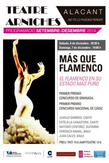 Más que Flamenco en el Teatro Arniches