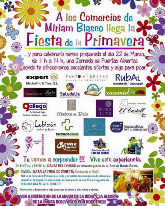 ¡Fiesta de la primavera en la Avenida Miriam Blasco de Alicante!