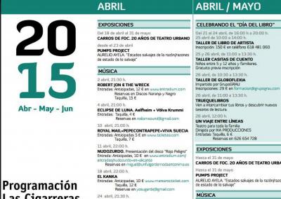 Las Cigarreras Cultura Contemporánea de abril a junio 2015