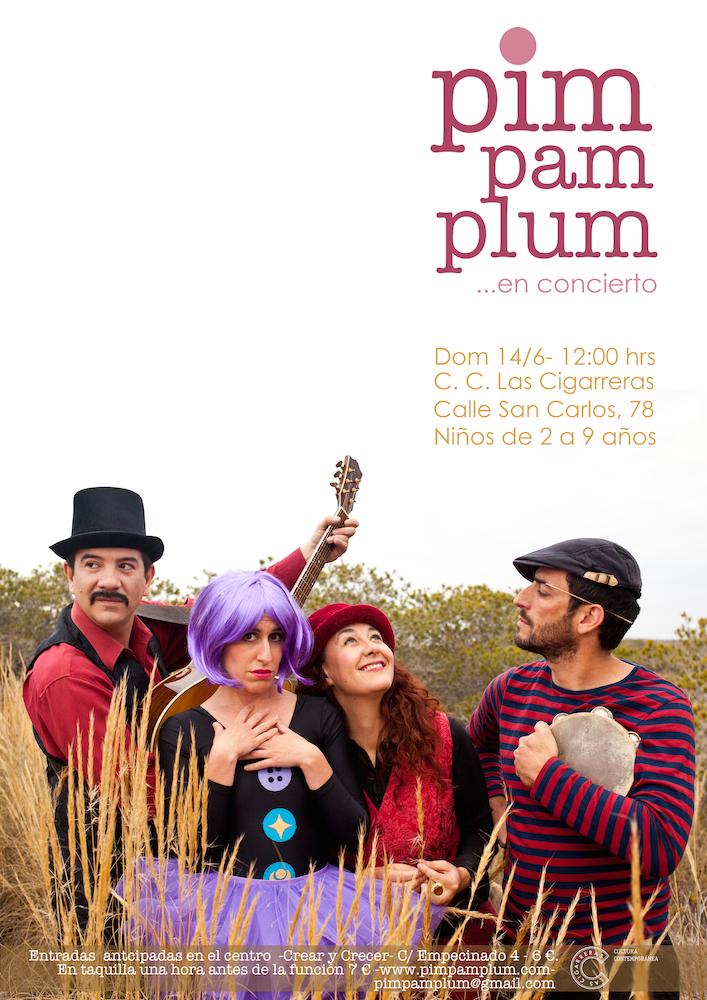 CARTEL PIM PAM PLUM reducido