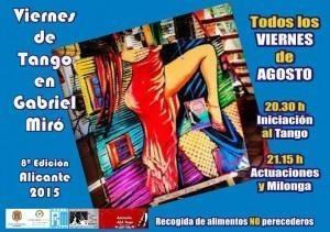 Viernes de Tango en la plaza Gabriel Miró. Verano 2015
