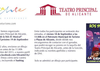 """Gana dos entradas para ver el espectáculo """"Los Payasos de la Tele, El Musical"""" en el Teatro Principal de Alicante"""