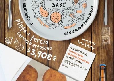 Alicante Sabe.  I Concurso de platos alicantinos. Del 8 al 31 de Octubre 2015