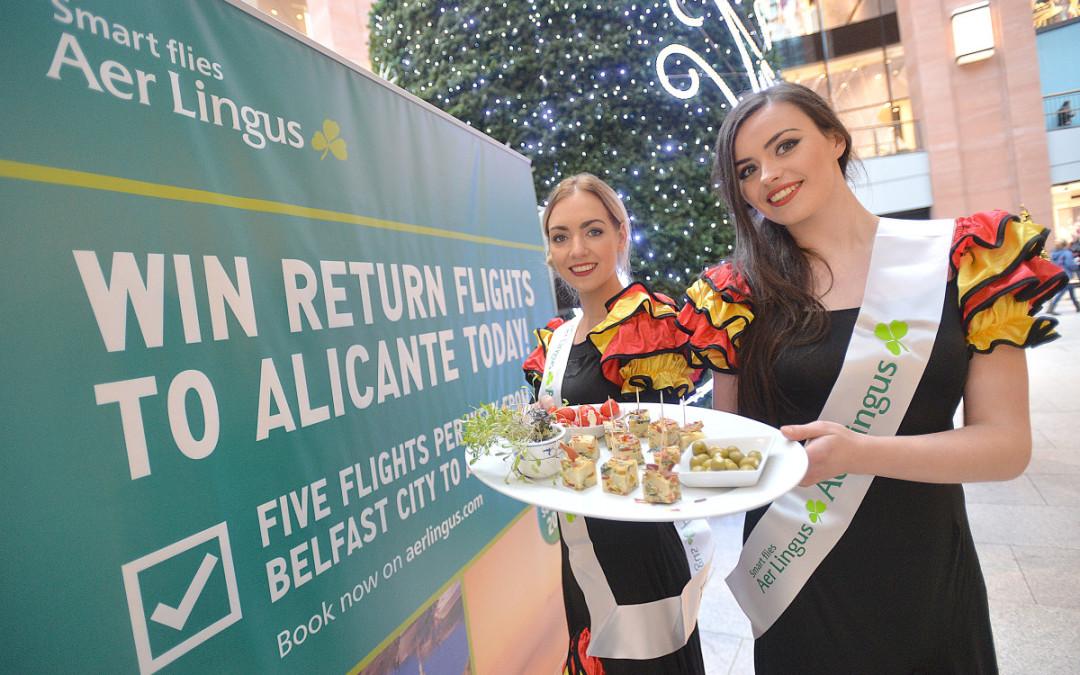 La compañía aérea Aerlingus celebra la apertura de nuevas rutas hacia la ciudad de Alicante desde Belfast City