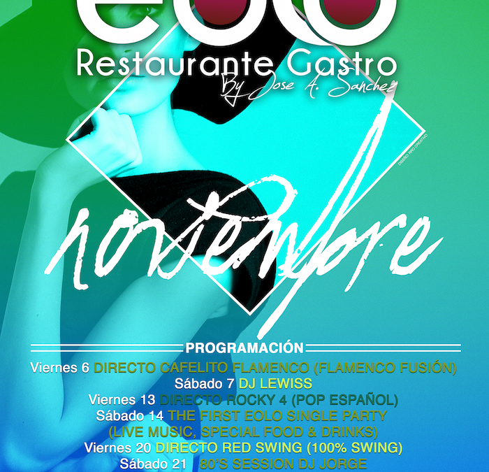 Eolo Restaurante. Agenda Noviembre