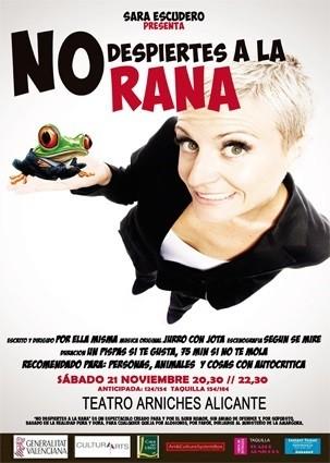"""Sara Escudero en el Teatro Arniches. """"No despiertes a la rana"""""""
