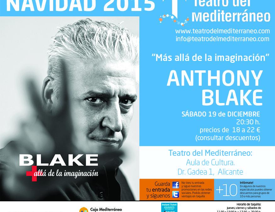 Anthony Blake en el Teatro del Mediterráneo