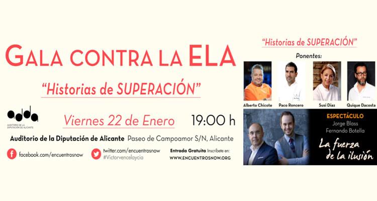 """Gala contra la ELA """"Historias de superación"""" en el ADDA"""