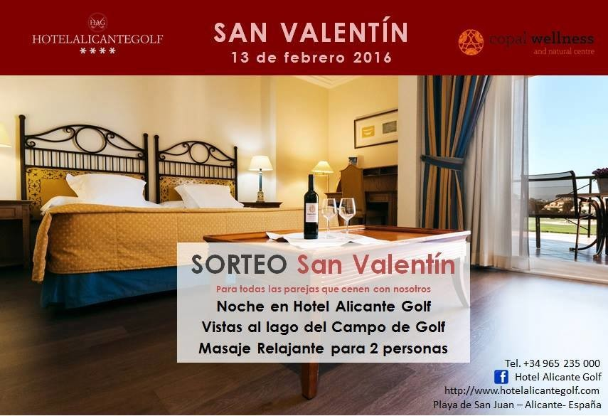 Hotel Alicante Golf. Oferta de San Valentín 2016