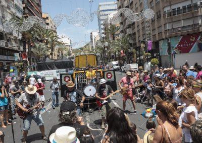 Conciertos en Fogueres de Sant Joan. Autor Borja López