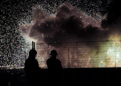 Fogueres de Sant Joan, fuegos artificiales. Autor Borja López.