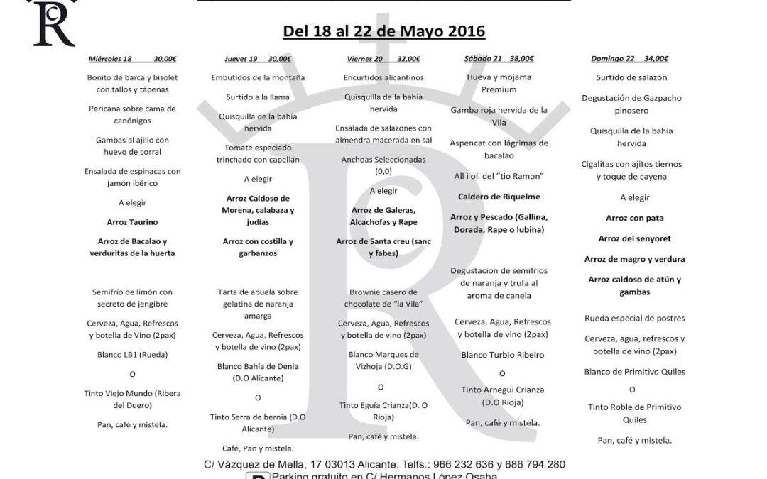 III JORNADAS DEL ARROZ. DEL 18 AL 22 DE MAYO.
