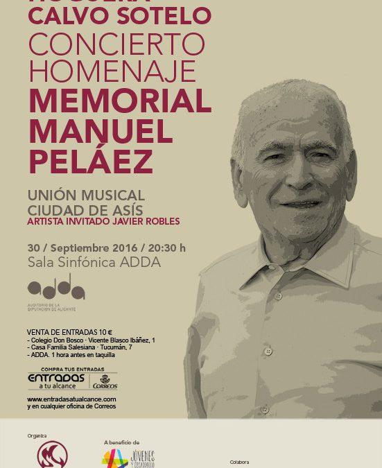 Concierto Homenaje Memorial Manuel Peláez en el ADDA. Hoguera Calvo Sotelo