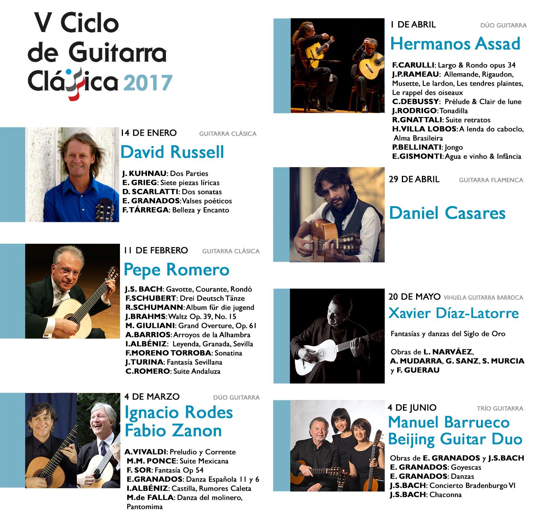 DIPTICO ACTUACIONES IV CICLO GUITARRA.indd
