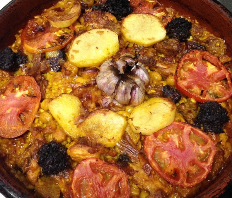 Arroz al horno. Recipe of oven-baked rice