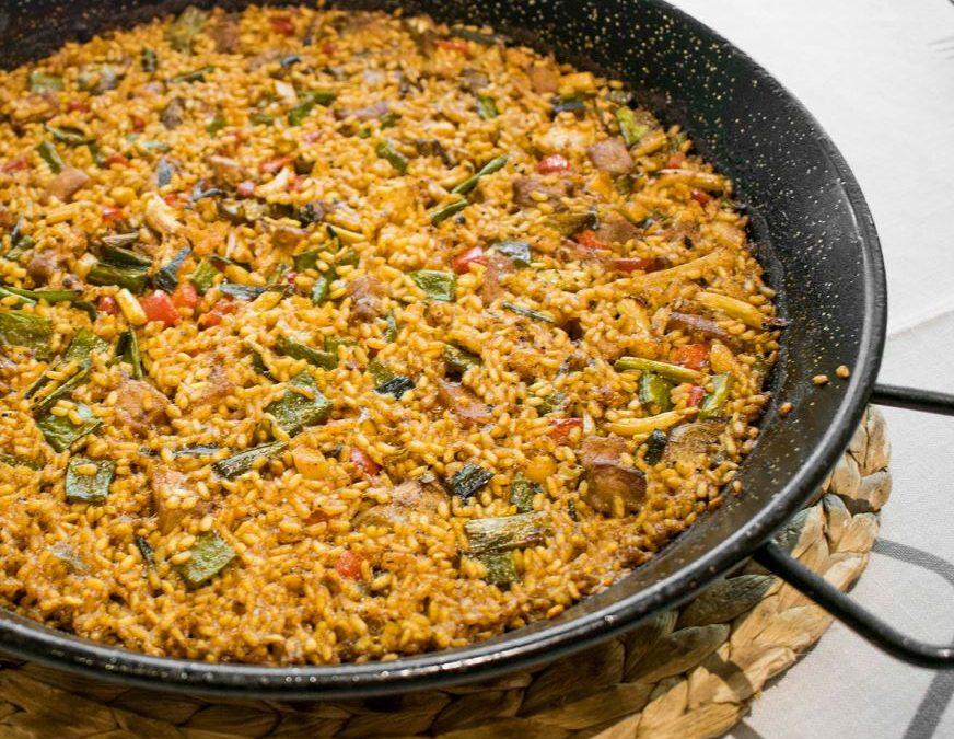 Recepta d'arròs amb magre i verdures