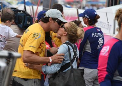 October 11, 2014. The teams are saying their goodbyes and preparing for the start of Leg 1 David Ramos Volvo Ocean Race