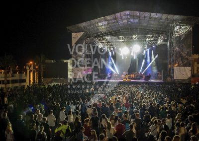 October 3,2014. Leiva in concert in the Volvo Ocean Race Village.