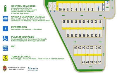 Alacant obri al públic la seva primera àrea de pernocta en trànsit per autocaravanes