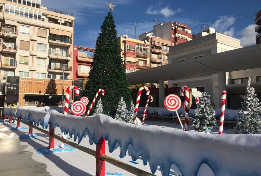 El Ayuntamiento de Alicante hace resurgir la nueva Plaza Séneca en Navidad