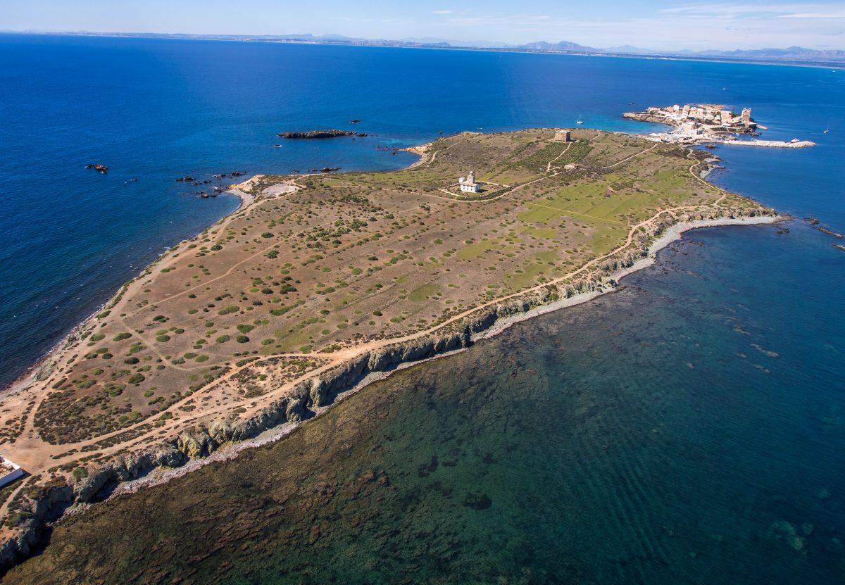 La isla de Tabarca vista desde lo alto